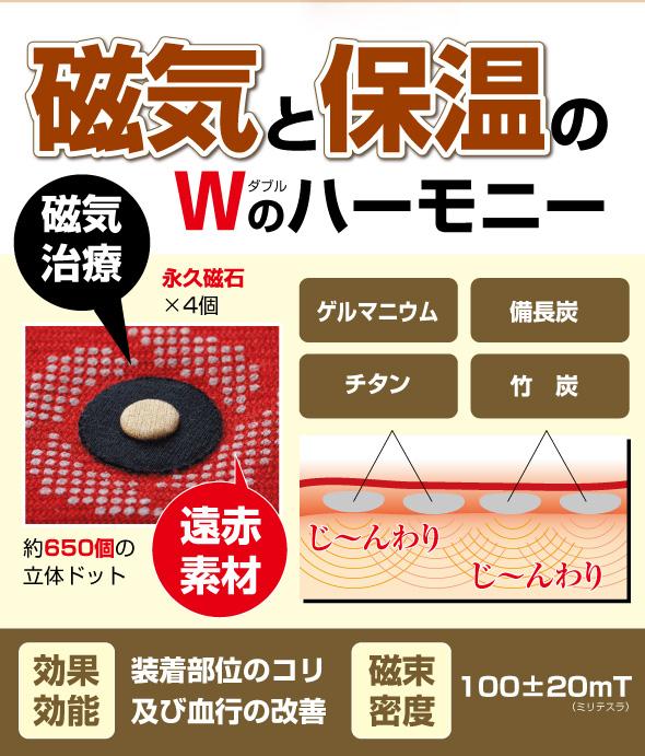 磁気 保温 磁気治療 ゲルマニウム 備長炭 チタン 竹炭 遠赤素材