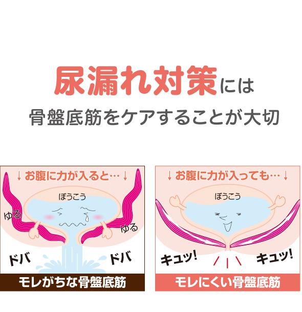 骨盤底筋をサポート 尿漏れ解消