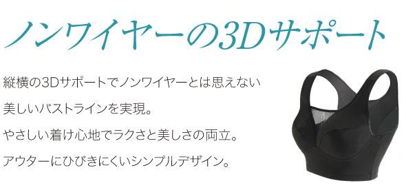 ノンワイヤーの3Dサポート