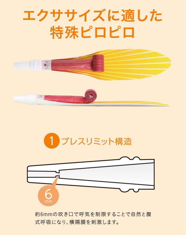 腹式呼吸エクサ ロングピロピロ(E)